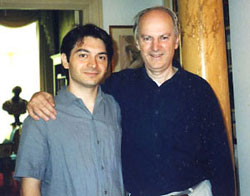 Stefano Greco with Professor Robert Temple